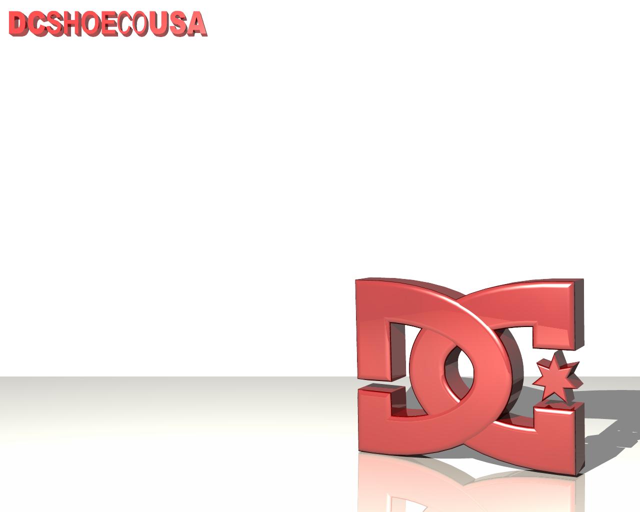 DC Shoes Red Logo in Corner White Wallpaper HD Desktop High Quality 1280x1024