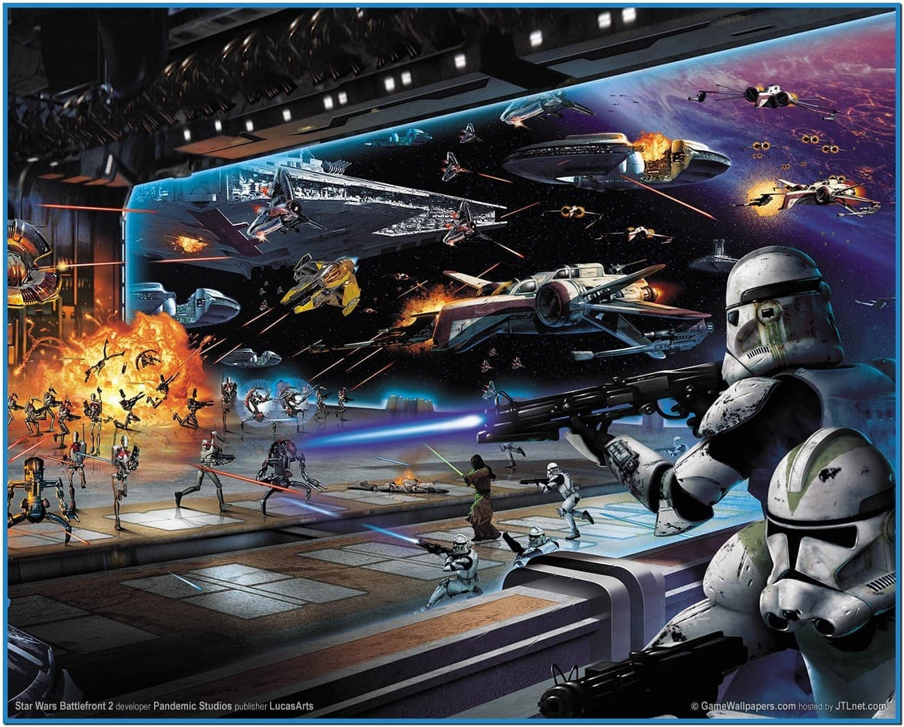 Star wars screensaver battle   Download 1303x1047
