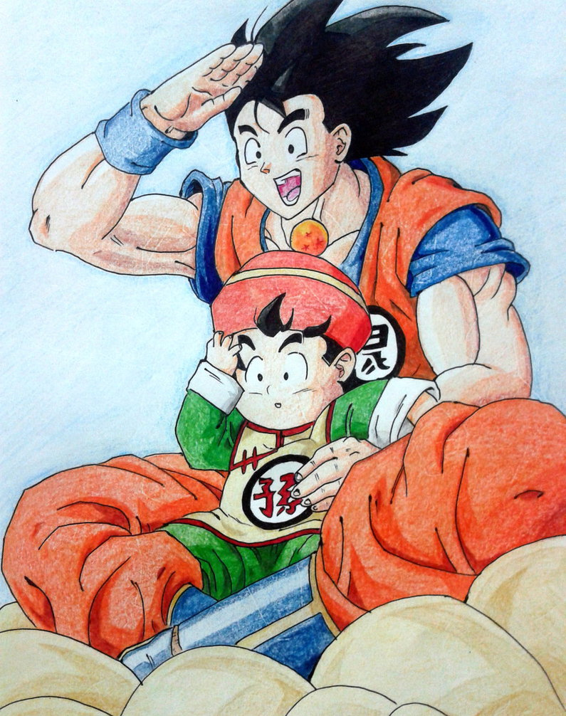 Goku and gohan D by RanCh000 795x1006
