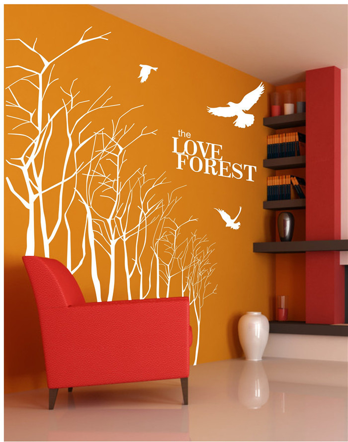 The Love Forest Wallpaper Tree Removable Wall Stickers DIY Removable 700x890