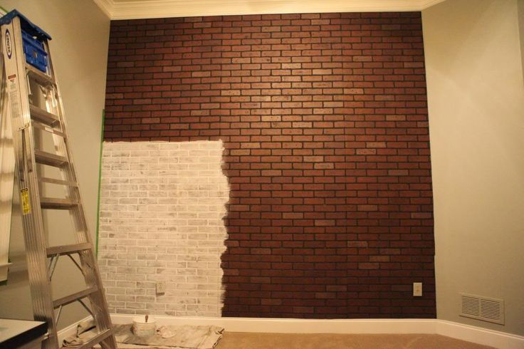 Brick Wall Around the House WallsCeilings Pinterest 736x490