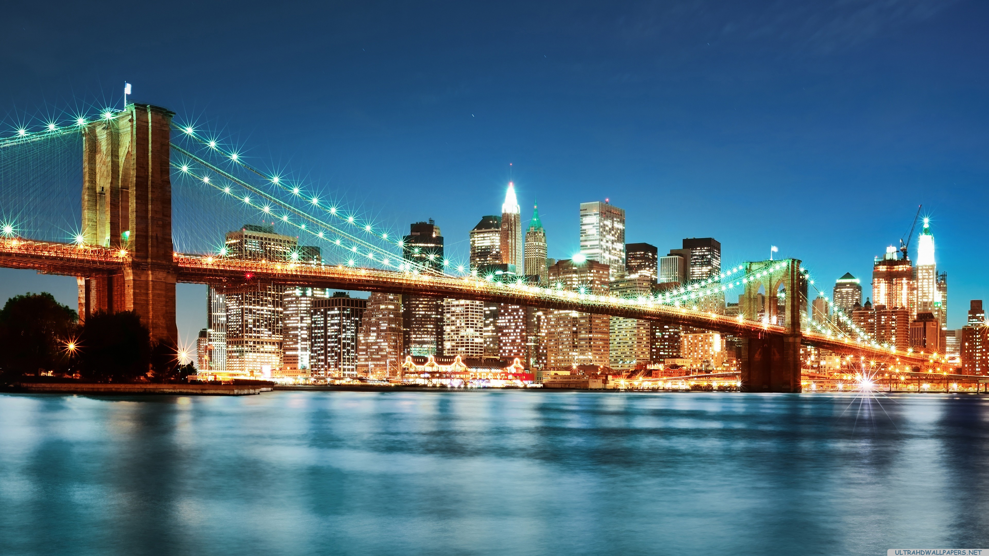New York City Lights 4K Ultra HD wallpaper 4k WallpaperNet 3840x2160