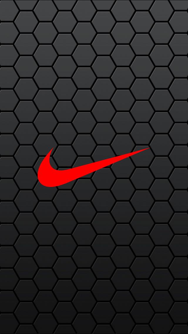 Black Hexagon Nike iPhone 5 Wallpaper 640x1136 640x1136