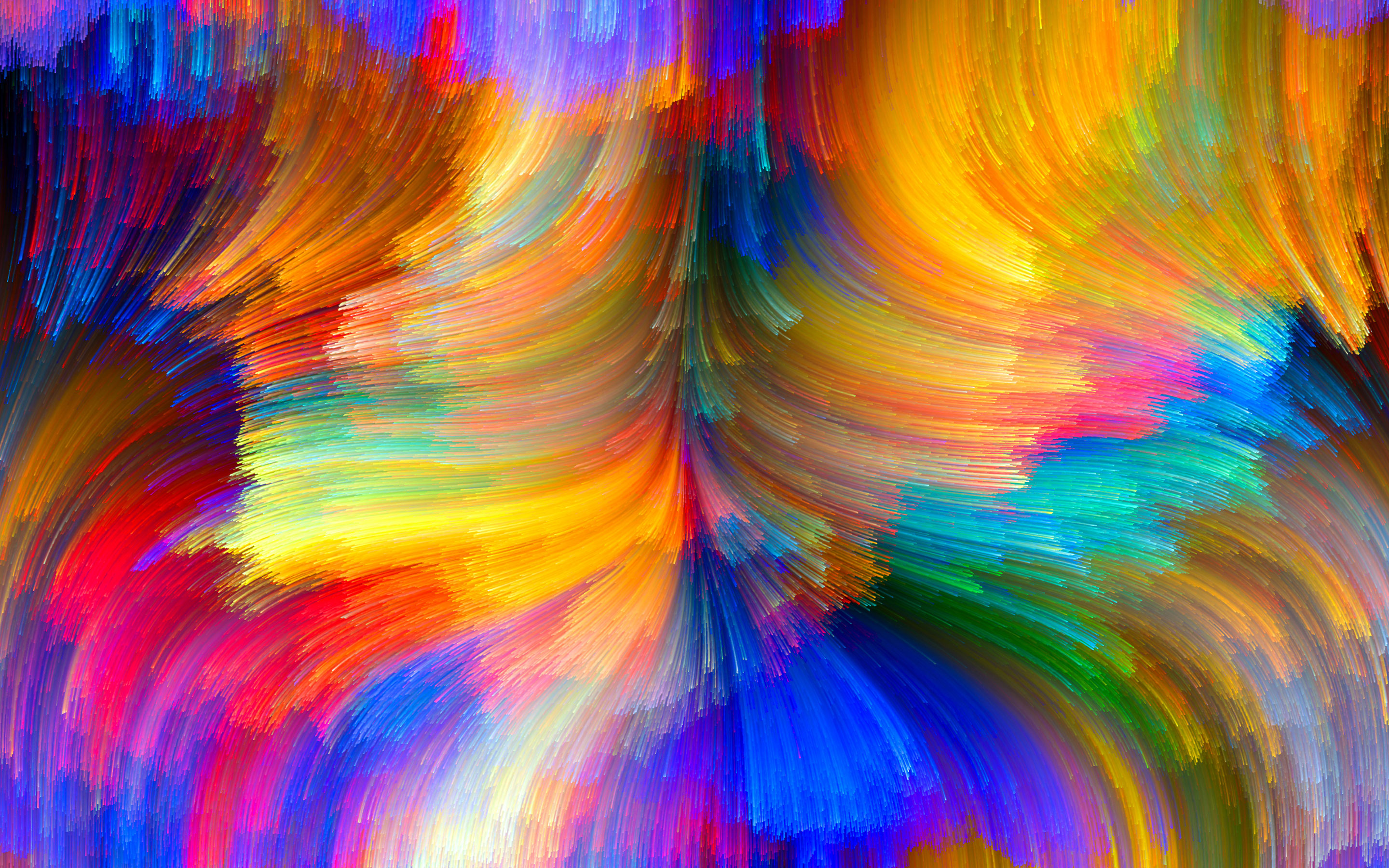 Wallpaper Abstract Bright Color Curves 2880x1800