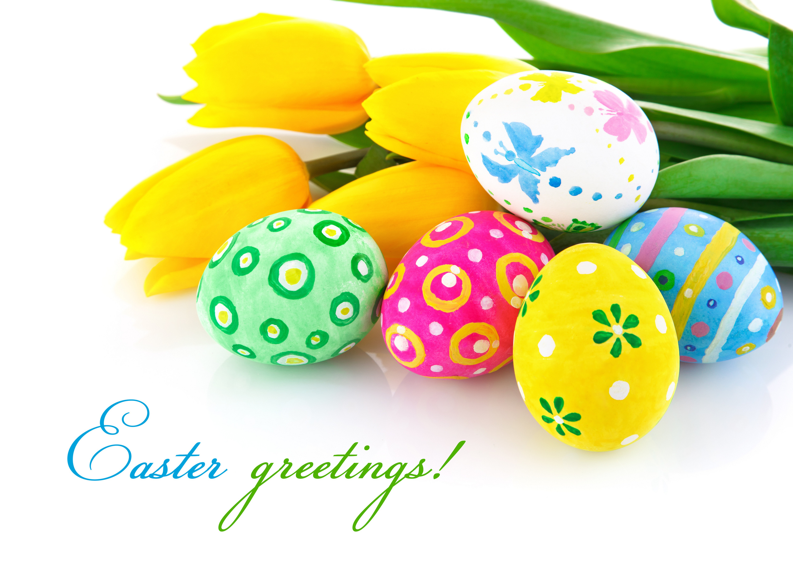 Easter images Easter greeting card HD wallpaper and background 2560x1827