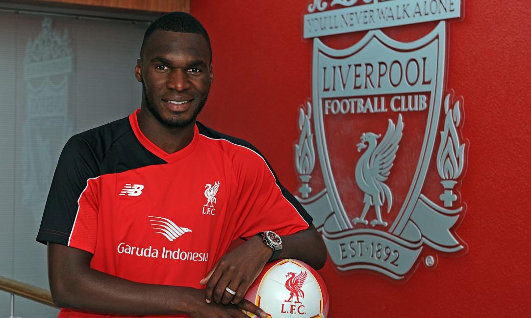 Christian Benteke Liverpool Football Ball   Stock Photos 1083x650