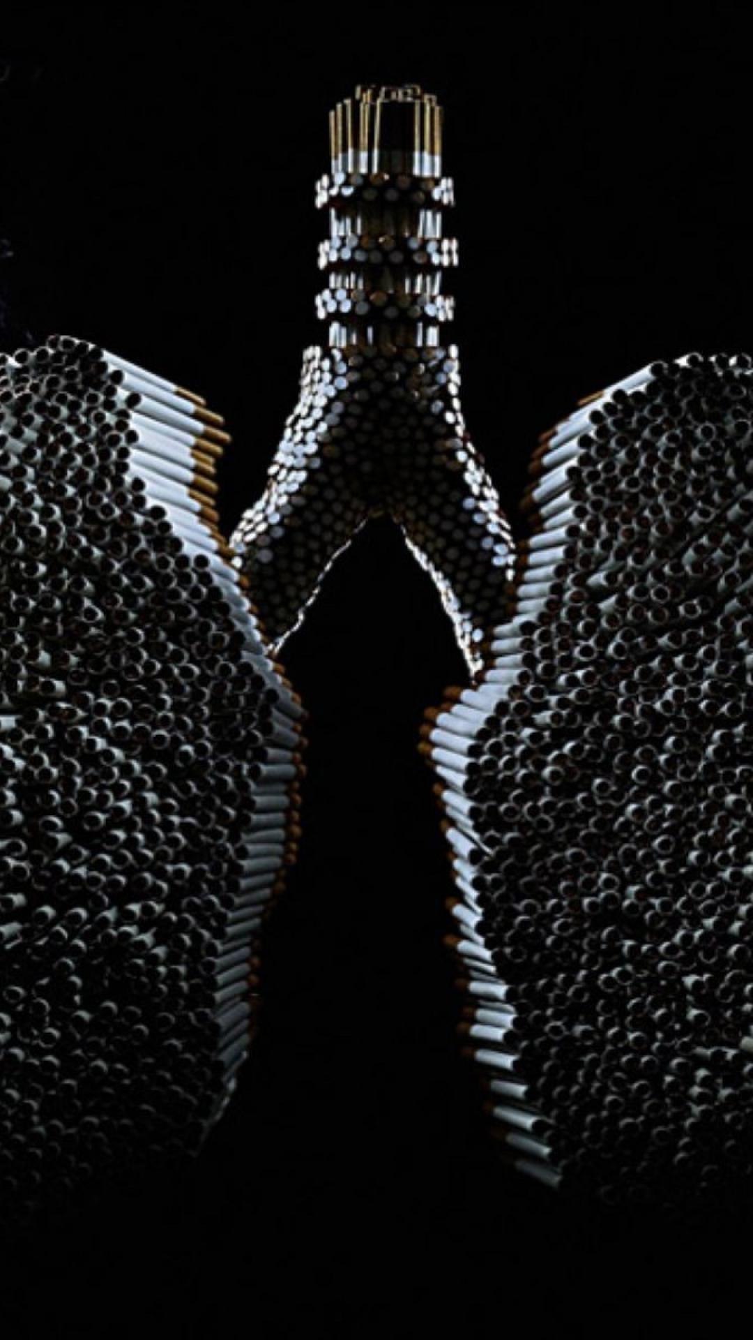 Smoking digital art artwork lungs cancer wallpaper 32052 1080x1920