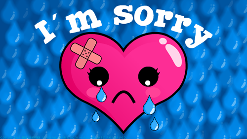 Cool Wallpaper I am Really Very Sorry to Display Pictures of Sorry 500x282