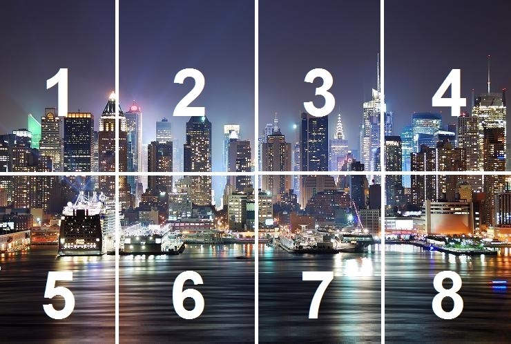 New York Cityscape Skyline Manhattan wallpaper wall mural decor photo 740x498