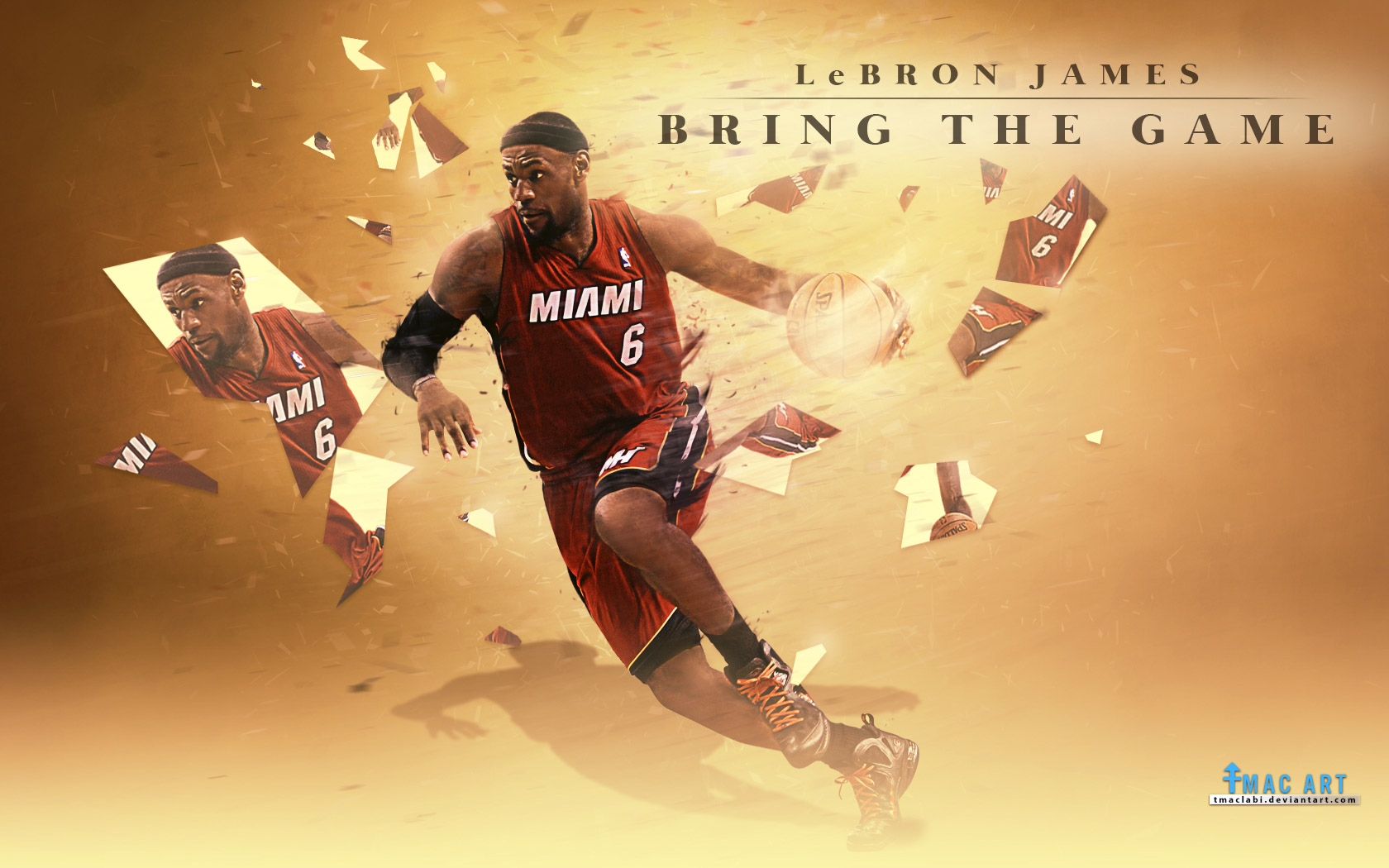 Lebron James Miami Heat Wallpapers 2015 1680x1050