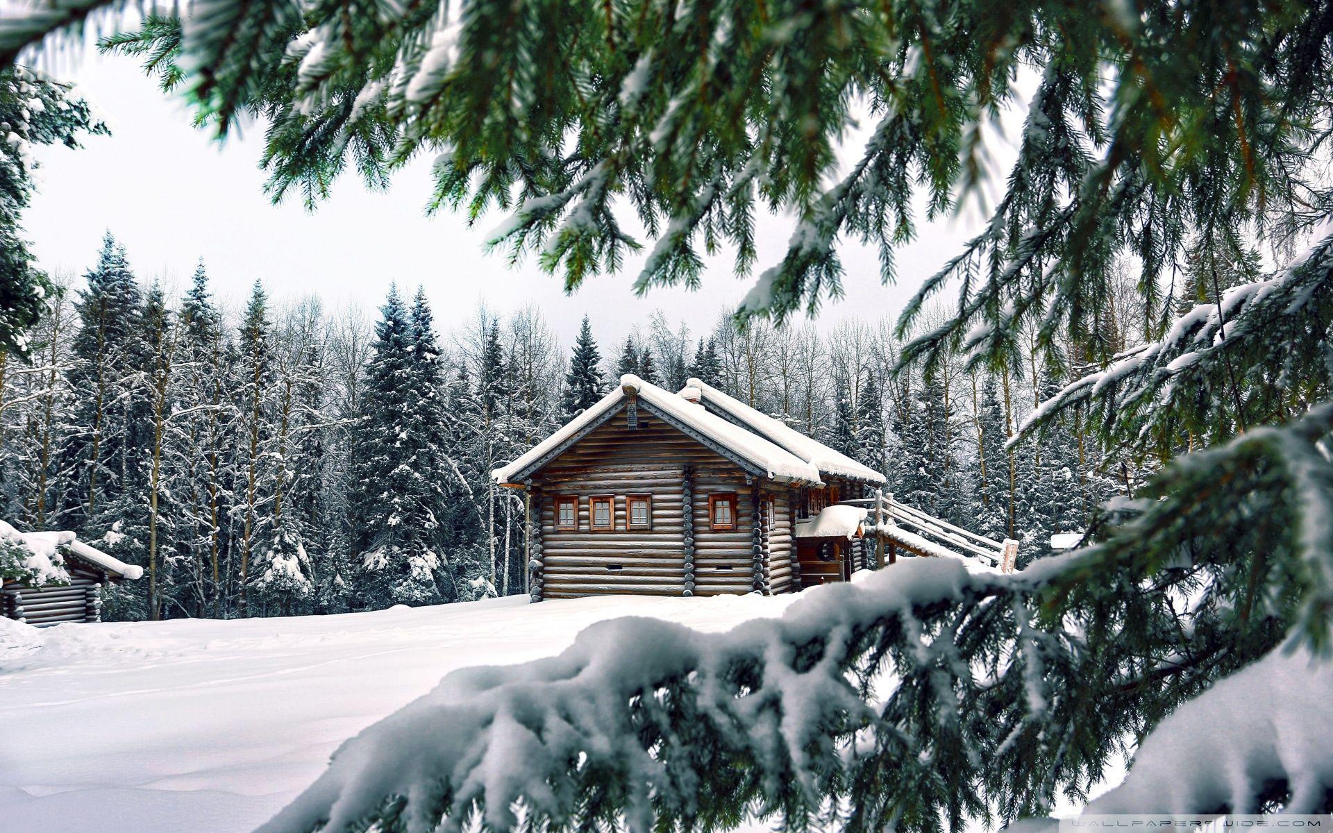 Mountain Retreat Winter Winter house Winter cabin Cabins in 1920x1200