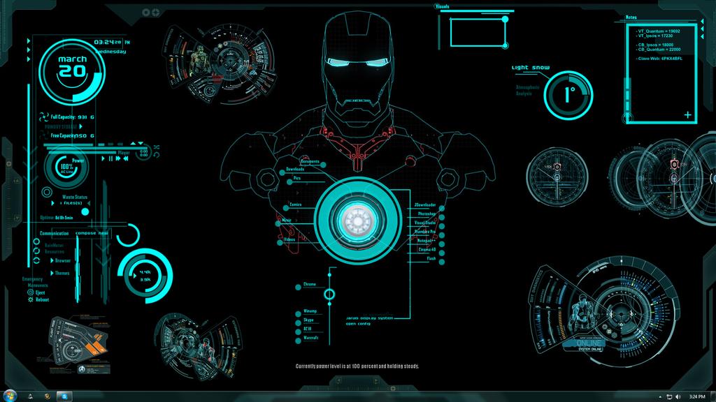 Iron Man Jarvis Theme by Xhini 1024x576