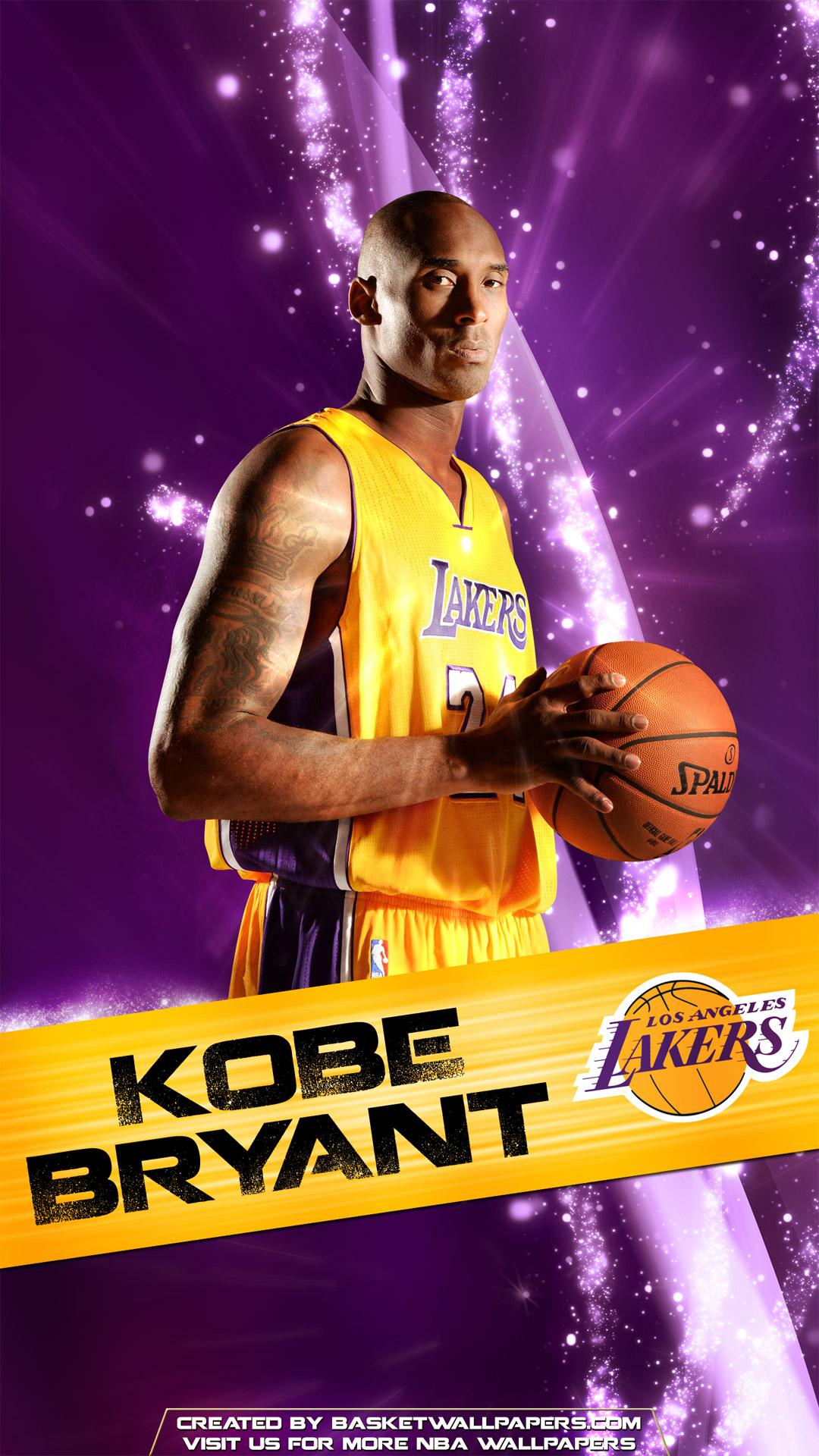 Kobe Bryant Los Angeles Lakers 2016 Mobile Wallpaper Basketball 1080x1920