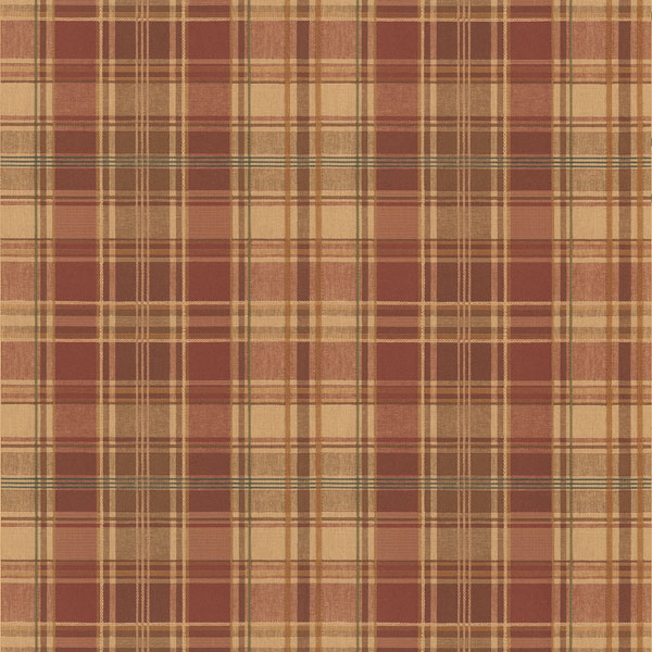 Plaid Wallpaper log cabin lodge inspired decor 600x600