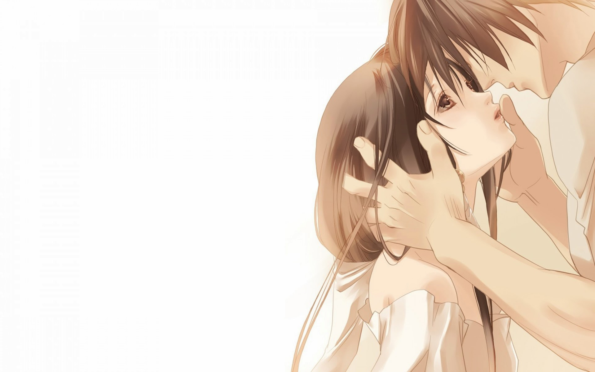 sweet anime couple hd wallpaper 1680x1050 1920x1200