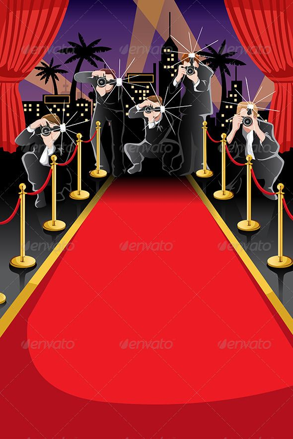 Red Carpet and Paparazzi Background   Backgrounds Decorative 590x885