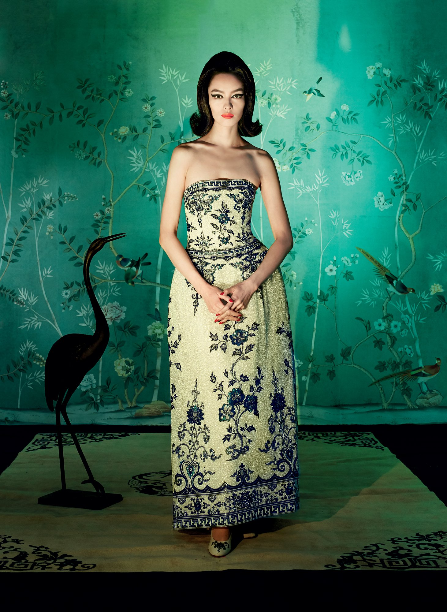 Affordable Temporary Chinoiserie Wallpaper   Vogue 1461x2000