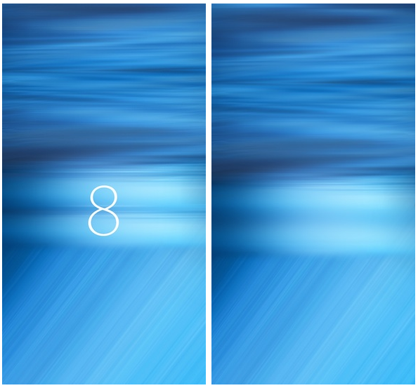 IOS 8 Water Wallpaper