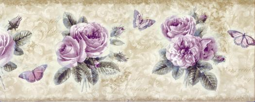 48 Lavender Wallpaper Border On Wallpapersafari