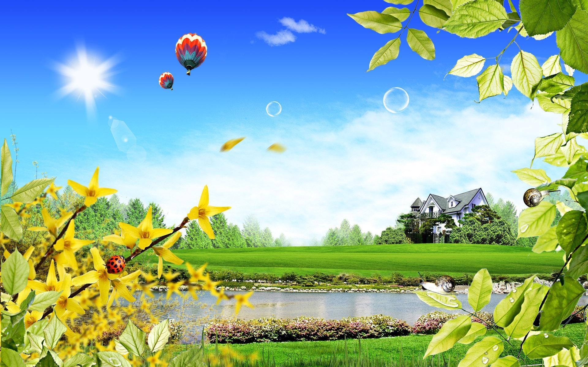 mi9comfree summer fantasy landscape for desktop wallpaper 80970html 1920x1200