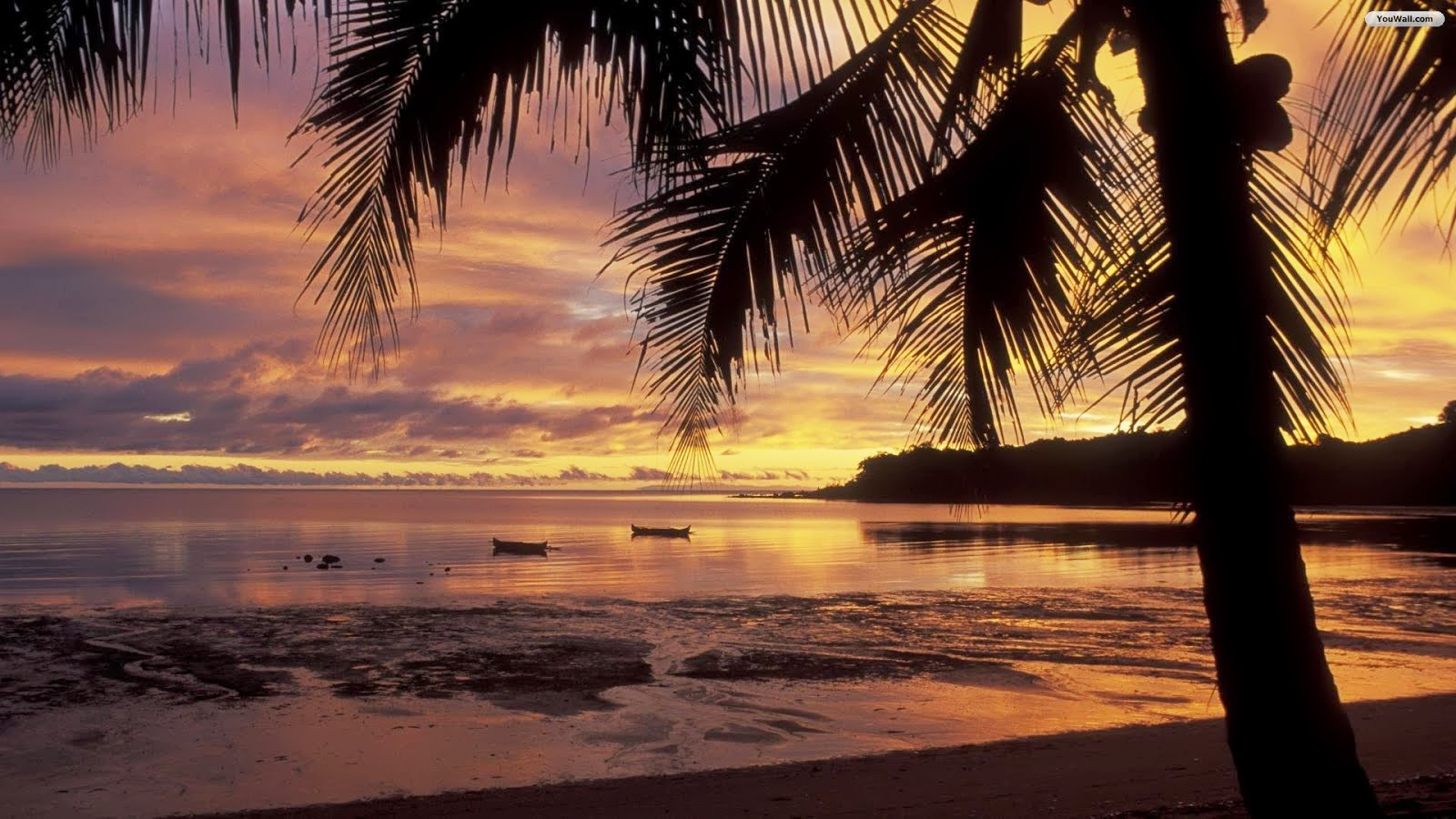 beach picture Beautiful Beach Sunset Wallpaper Wallpapers 1600x900