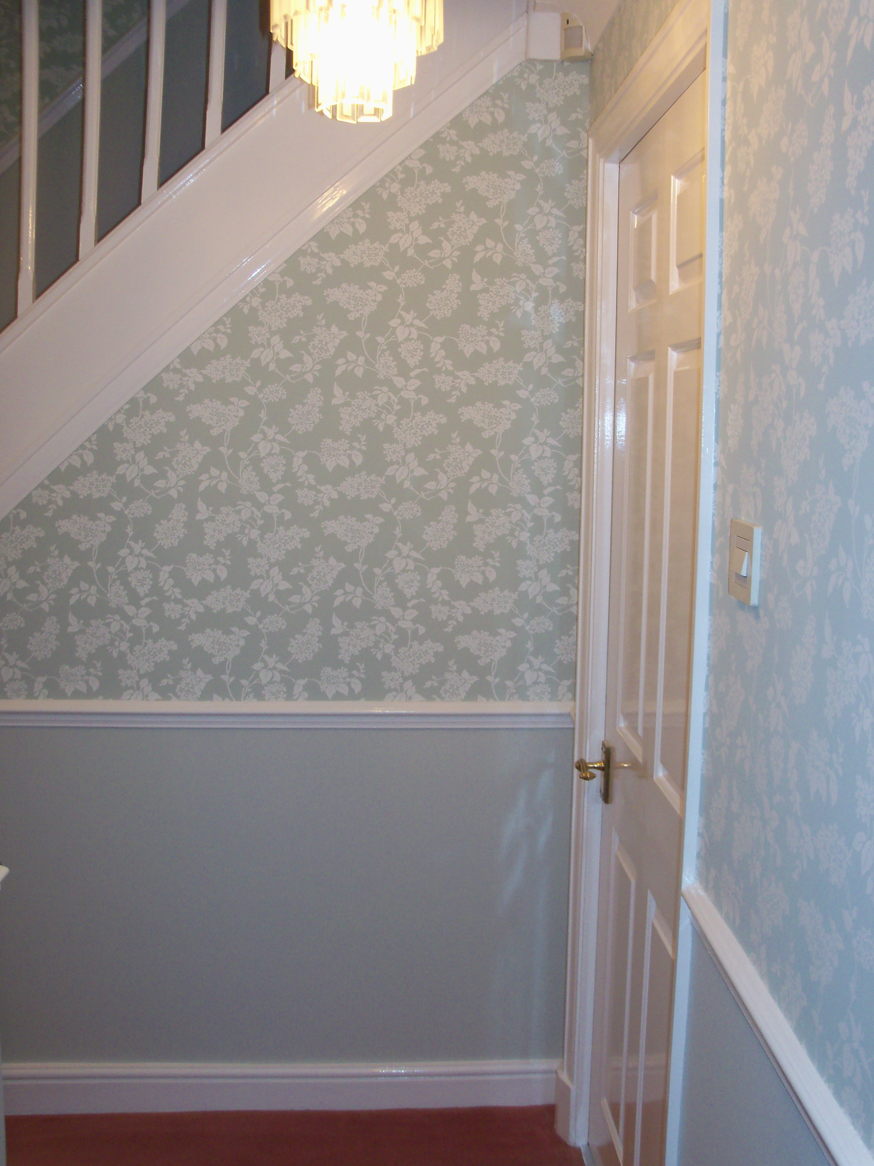 Staircase And Landing Wallpaper Ideas Photos Freezer And Stair
