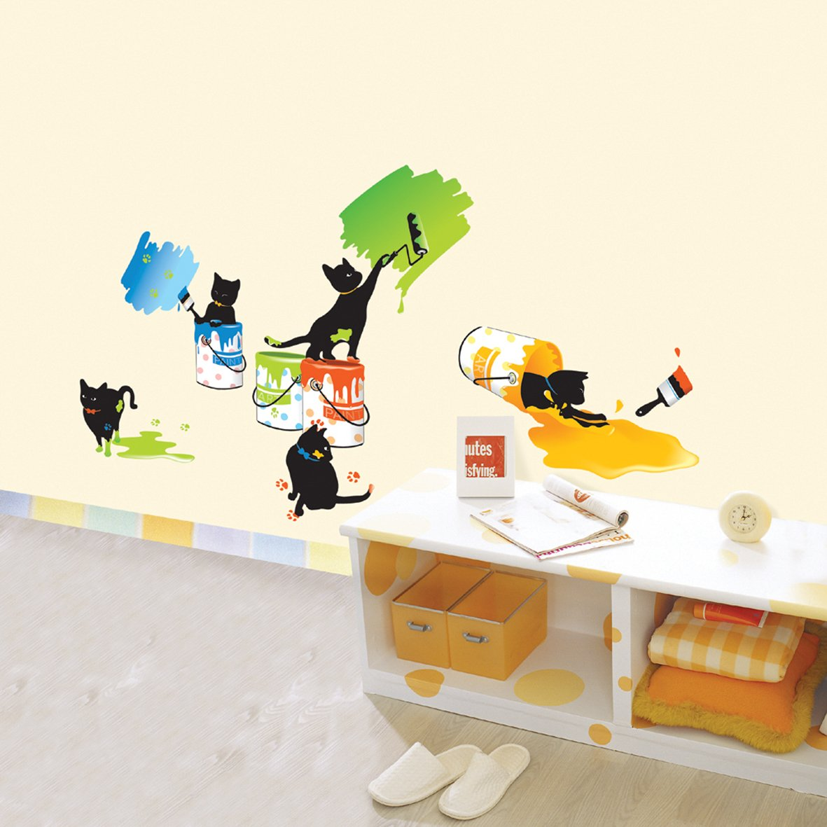 happy about this Painting Cats Wall Stickers for Kids Rooms 1181x1181