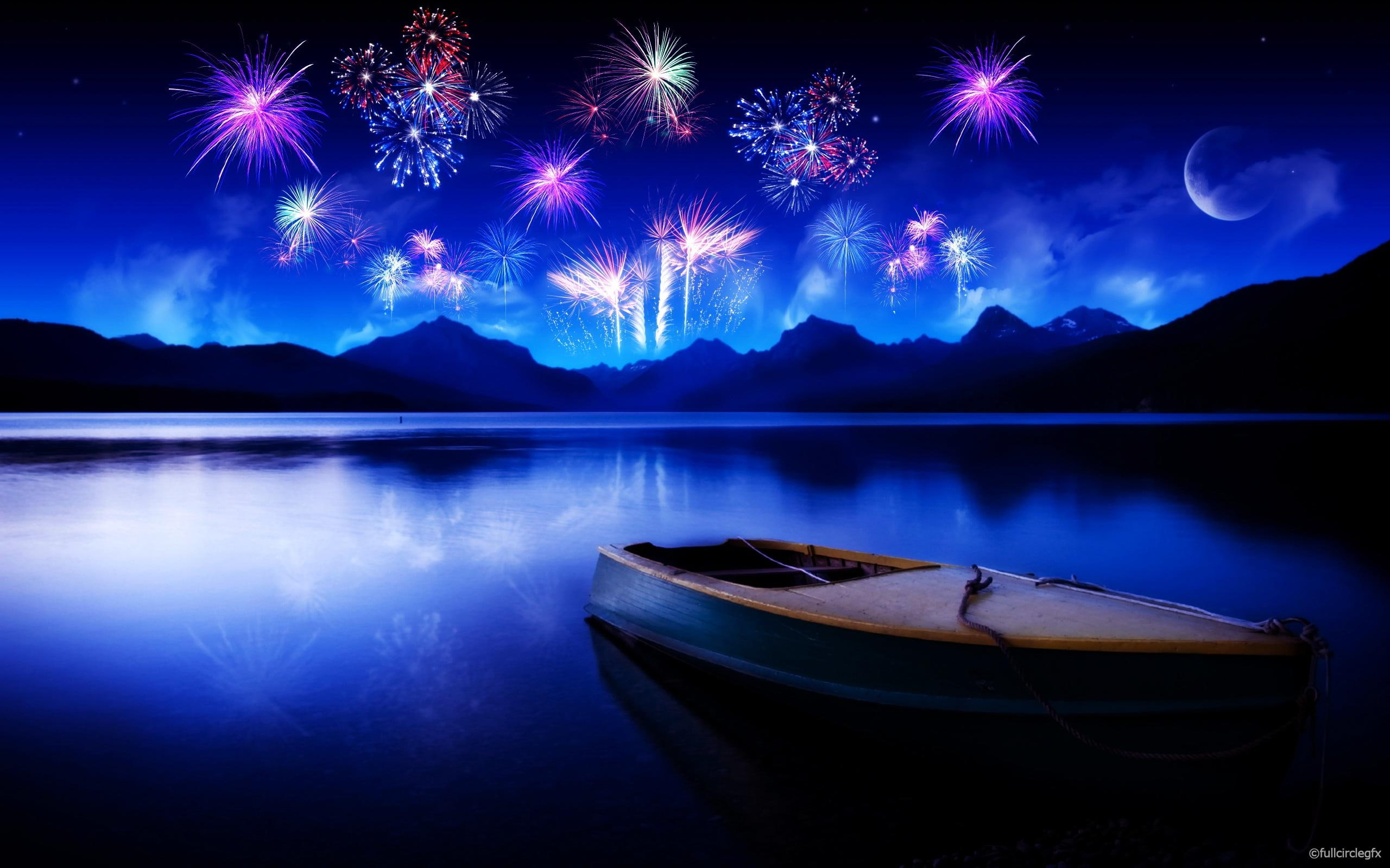 HD wallpaper Celebrating New Year HD creative and graphics 2560x1600