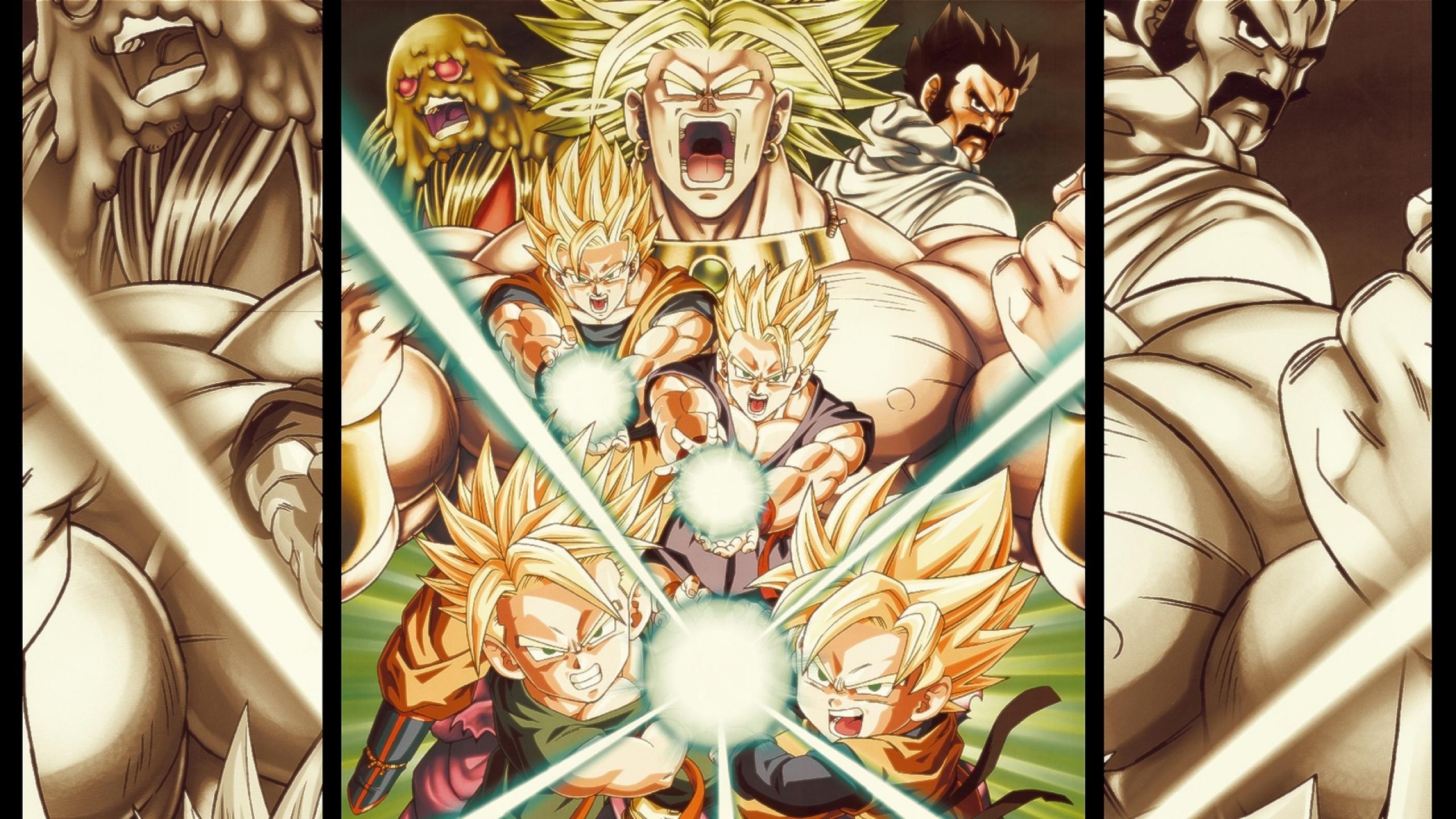 Goku Broly Gohan Trunks Goten 2560x1440