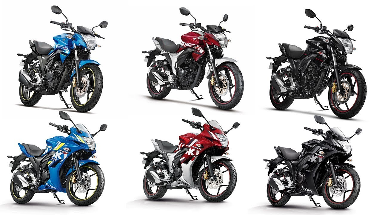 2018 Suzuki Gixxer Gixxer SF Colour Options   Images AUTOBICS 1280x720