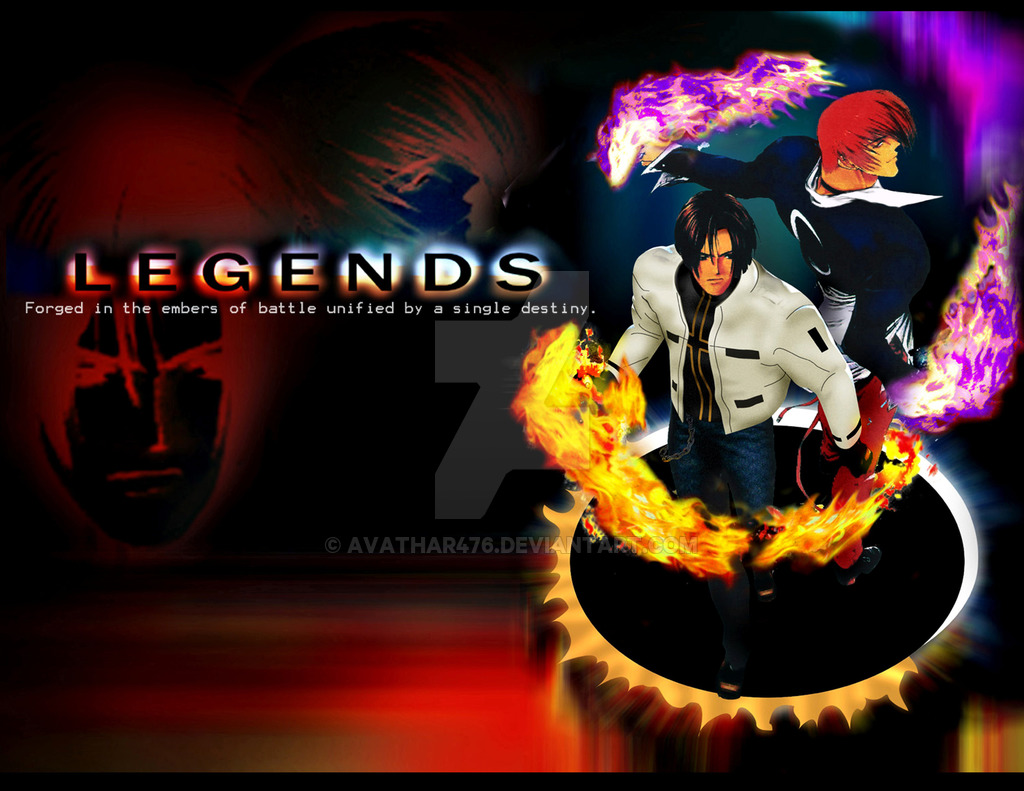 Legends Kyo Kusanagi Iori Yagami Wallpaper by avathar476 1024x791