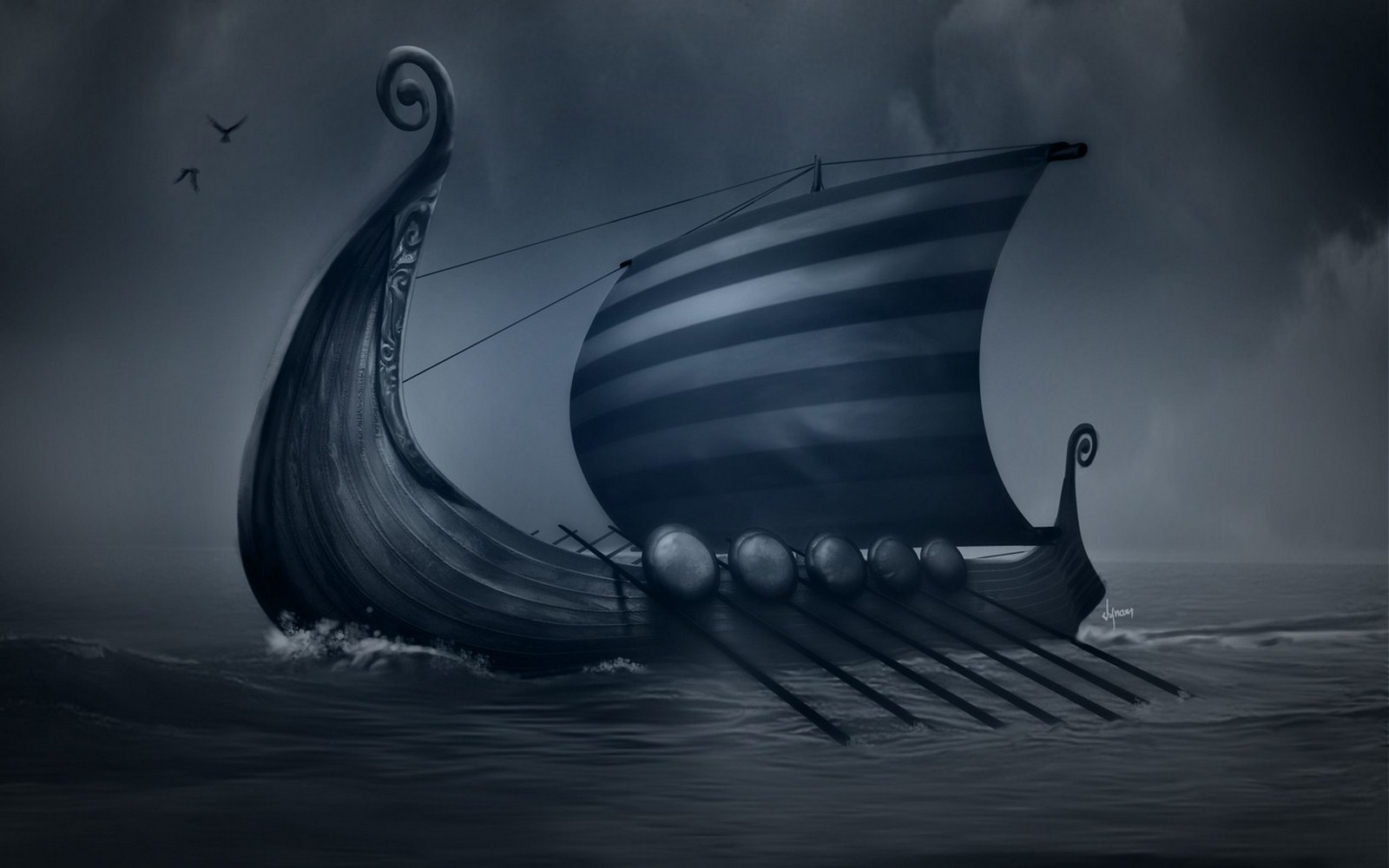 Viking Ship Wallpaper Hd Images Pictures   Becuo 1600x1000