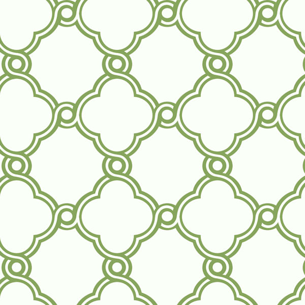 Green with White Open Trellis Wallpaper   Wall Sticker Outlet 600x600
