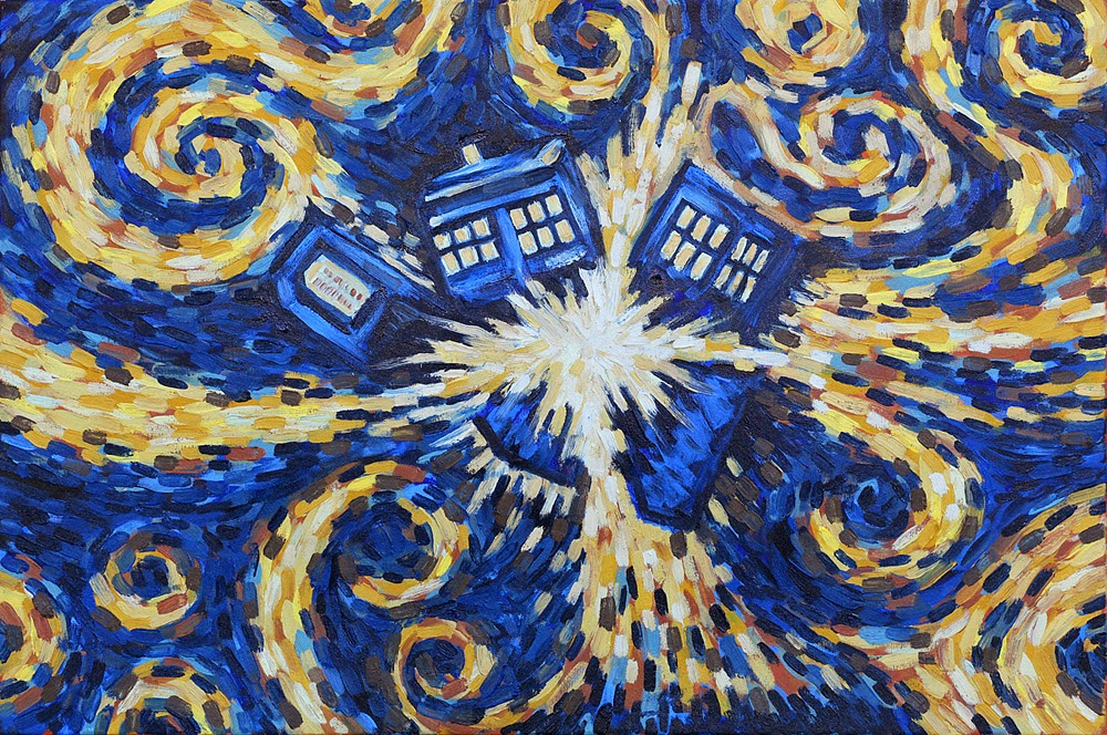 Tardis Painting Van Gogh Supposedly painted by van gogh 1000x664