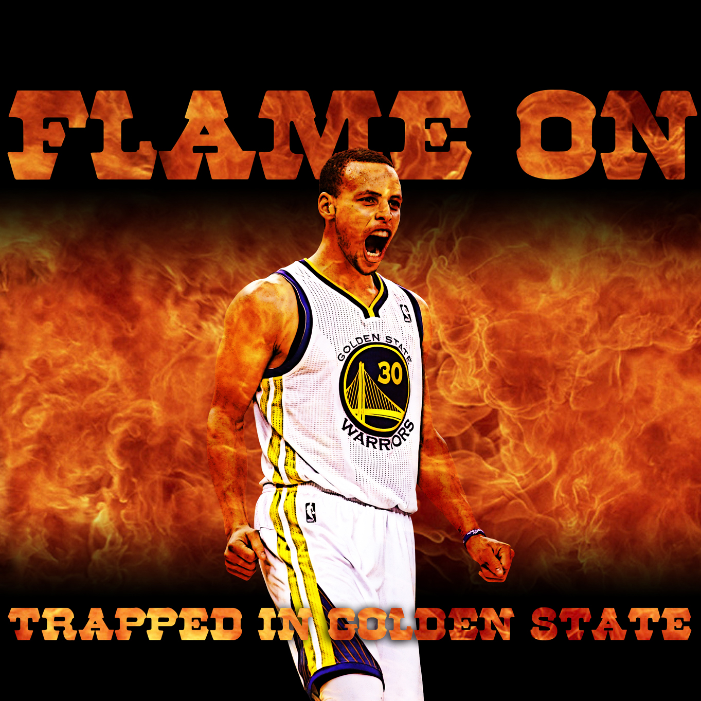 Warriors Fire And Ice Episode 3: Stephen Curry On Fire Wallpaper