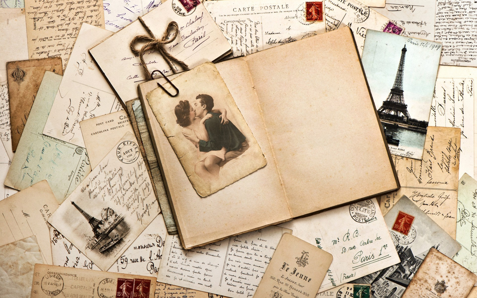 Free Download Vintage Love Letters Wallpaper 44402