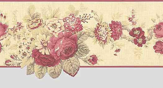 Die Cut Vintage Floral Wallpaper Border 525x284