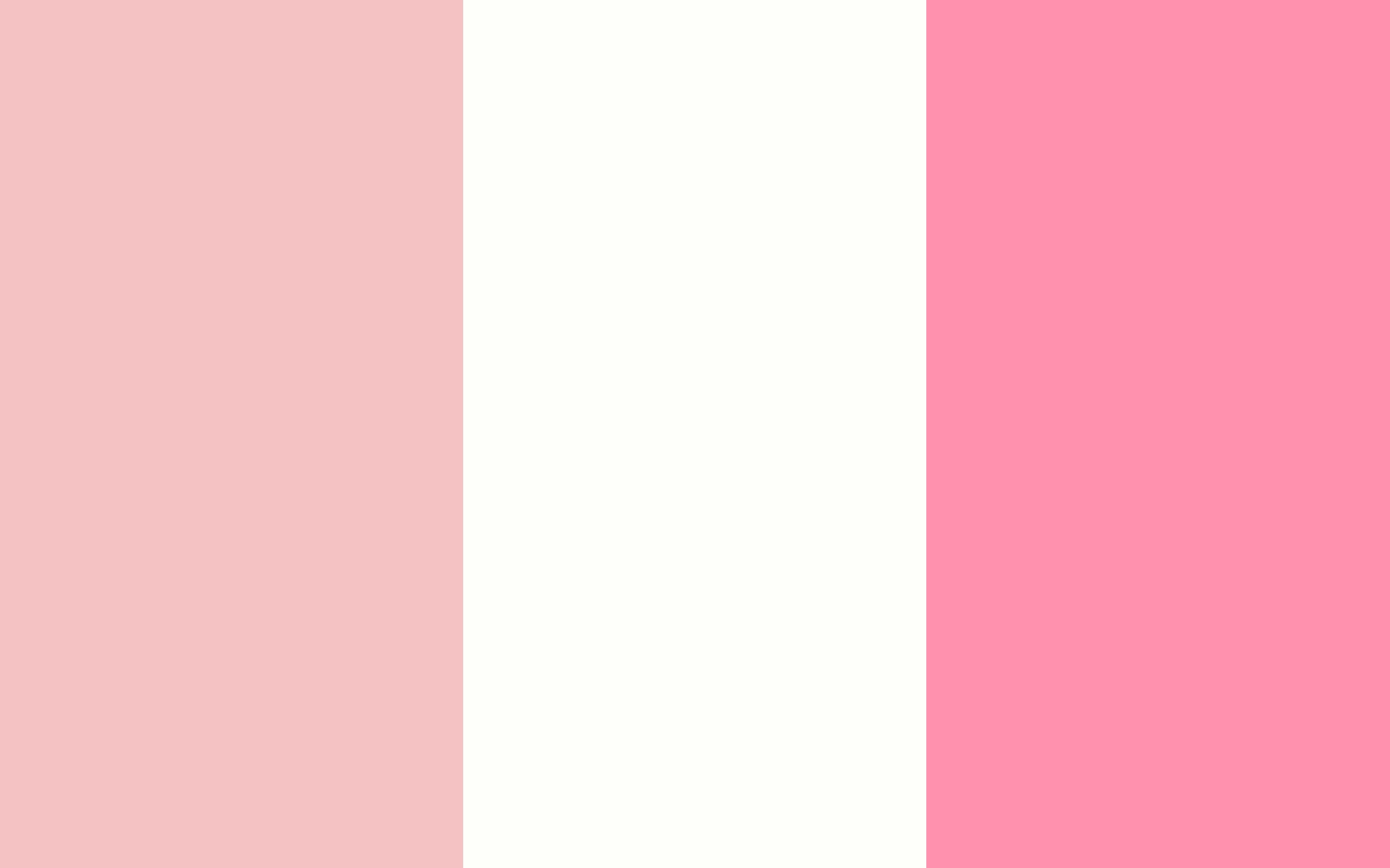 Baby Pink Baby Powder and Baker Miller Pink Three Color Background 2560x1600