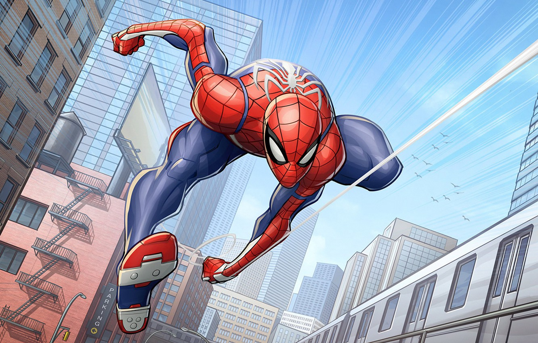 Wallpaper marvel comics Spider Man Patrick Brown PatrickBrown 1332x850