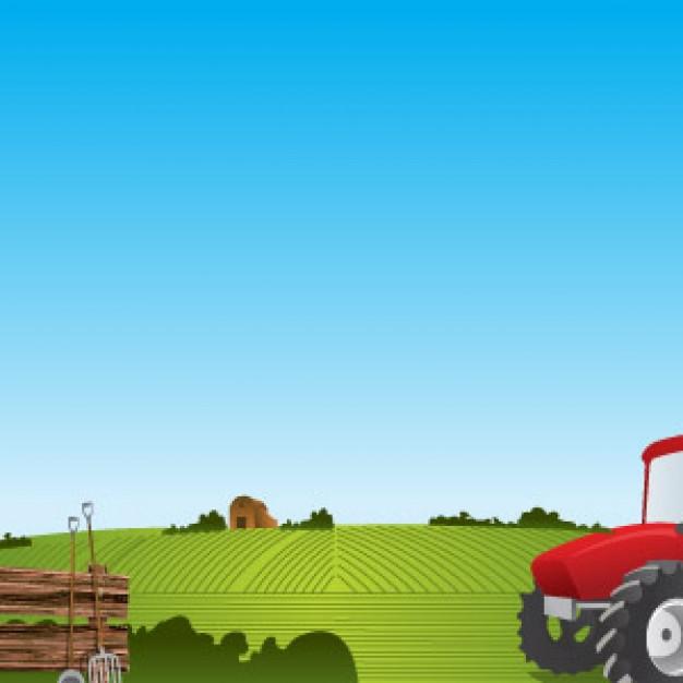 Tractor Farm Background Vector Vector Download 626x626