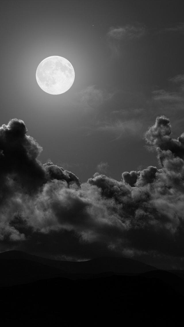 Free Download Full Moon Iphone 5 Wallpaper Ipod Wallpaper Hd