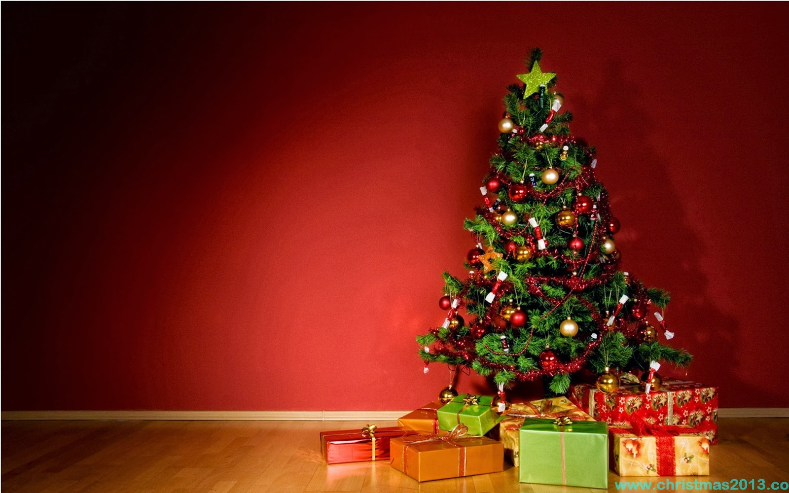 Christmas Tree Desktop Background 2014 1600x1000