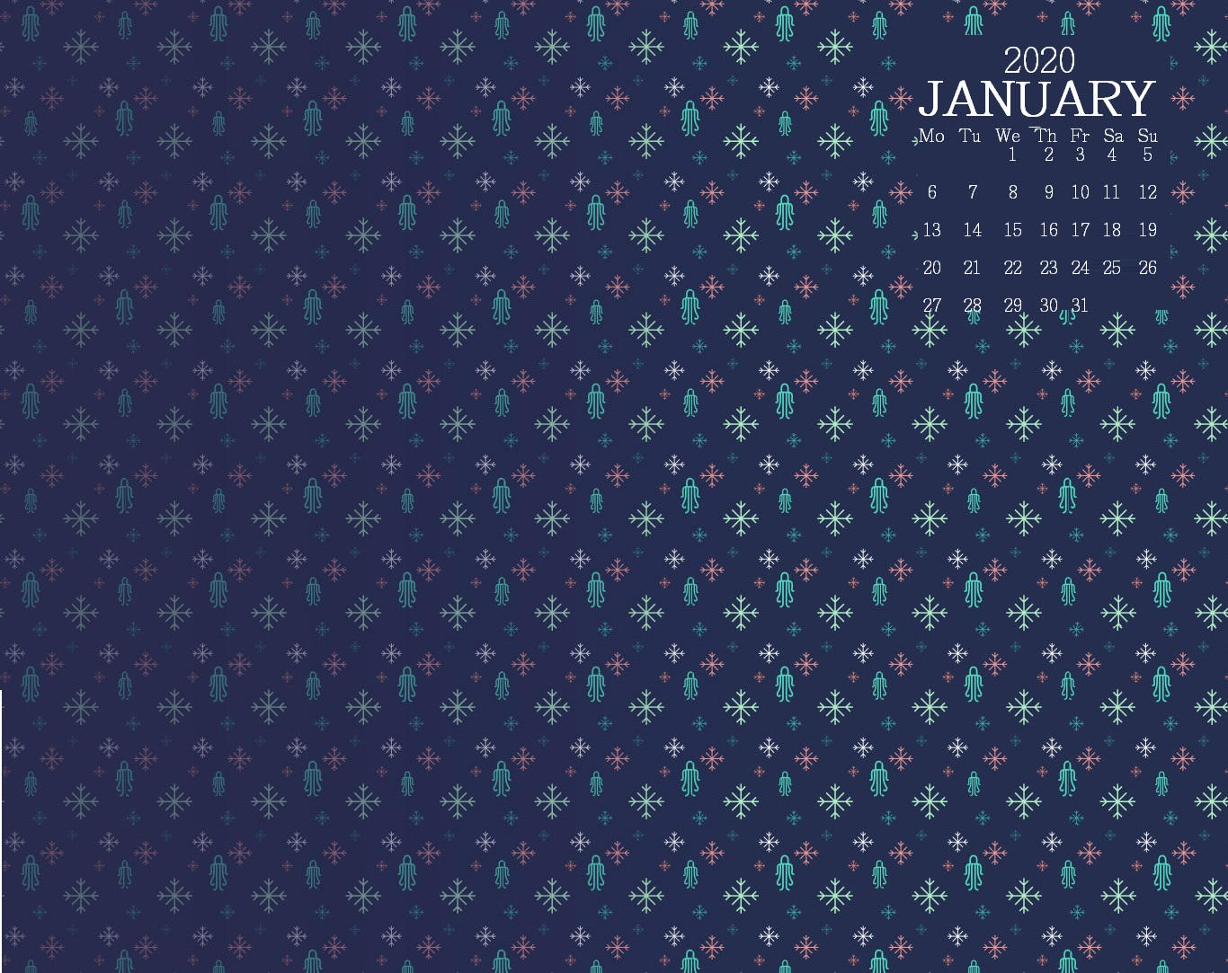 January 2020 Desktop Calendar Wallpaper Max Calendars 1366x1083