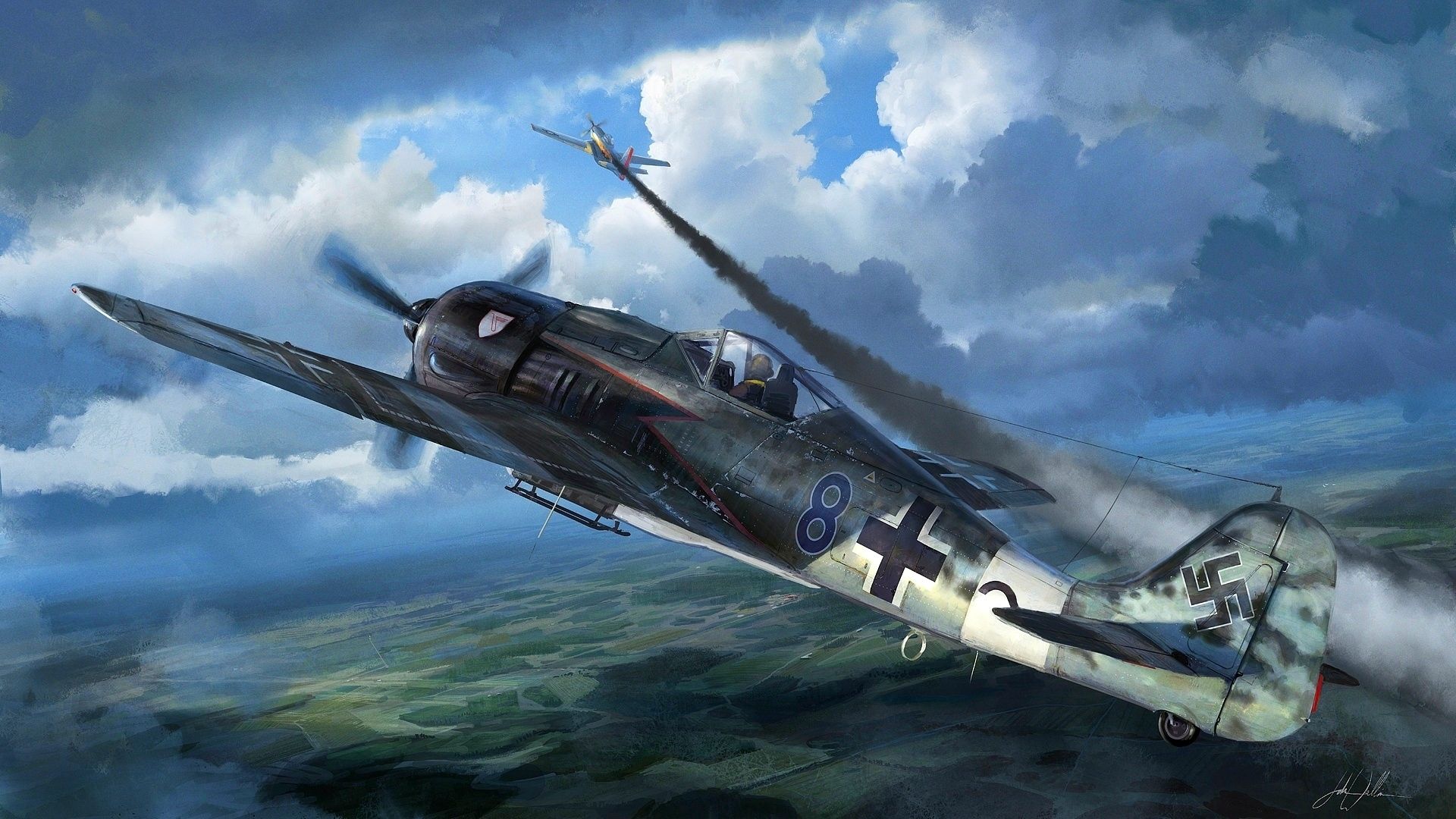 wwii fighter planes wallpapers 1920x1080 wallpapersafari