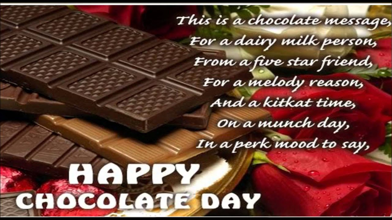 Happy Chocolate Day Wallpaper With Quotes Yokwallpapers   Happy 1280x720