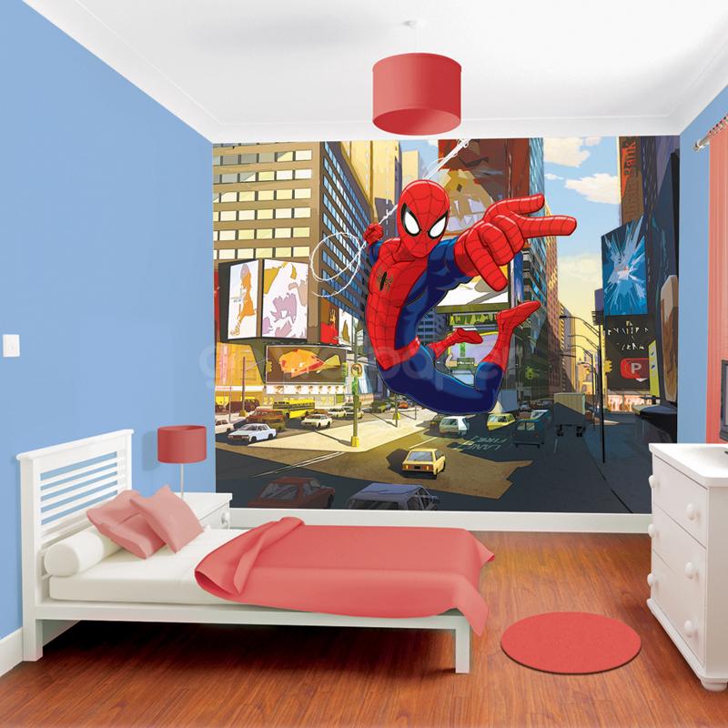 Boys Bedroom With Soldier Print Wallpaper: Marvel Wallpaper For Boy Room