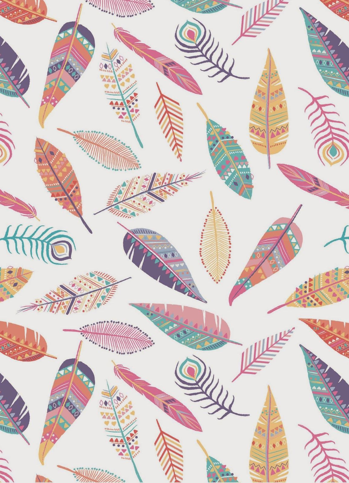 Emily Kiddy Feather Print Business in 2019 Pattern wallpaper 1155x1600
