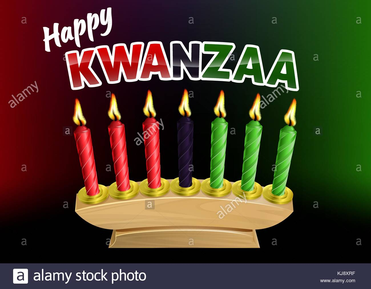 Happy Kwanzaa Candles Design Stock Vector Art Illustration 1300x1014