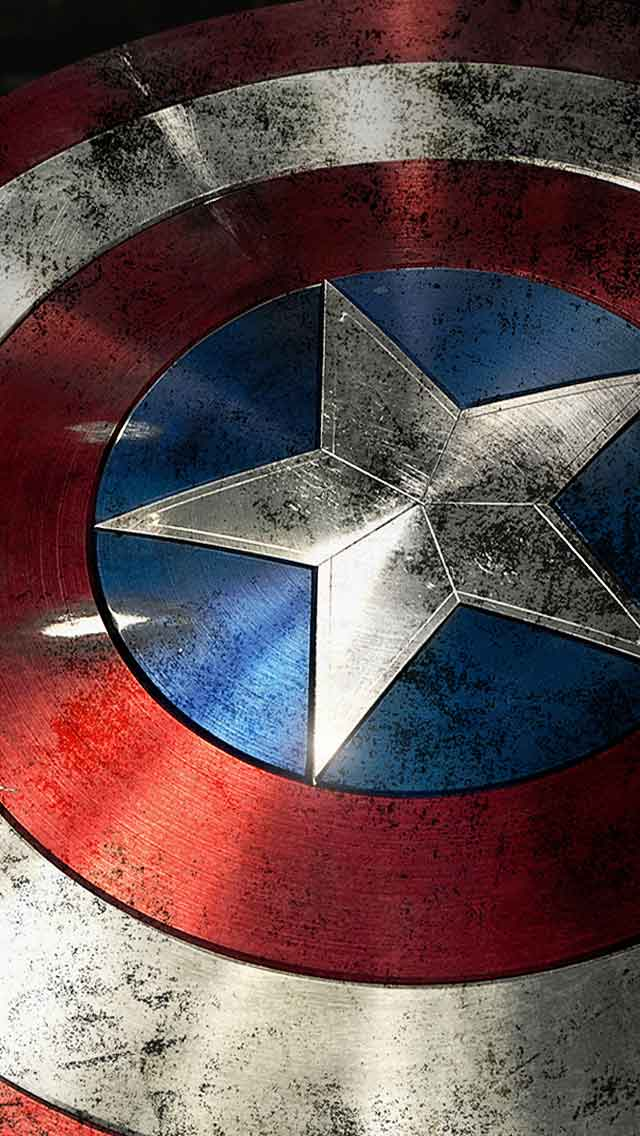 Captain America Shield iPhone Wallpaper 640x1136