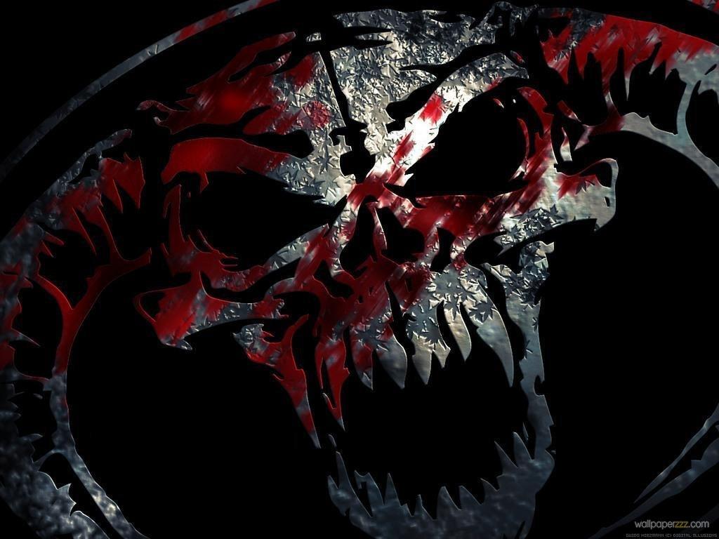 Download Skull In Blood Wallpaper Wallpaper 1024x768